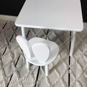 handmade pokoik dziecka białe meble dziecięce stolik i krzesełko