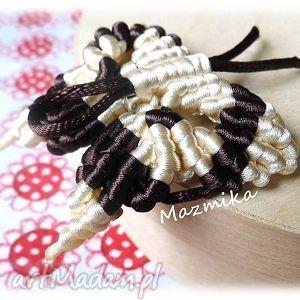 butterfly- broszka - sznurek, broszka, makrama, plecione