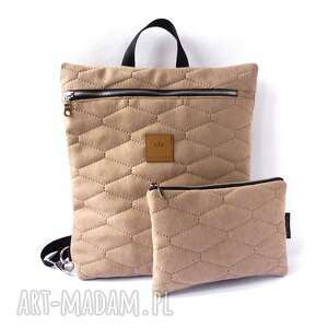 zestaw plecak i kosmetyczka, plecak, saszetka, plecako torba