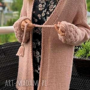 swetry ciepły sweter, kardigan, nadrutach, różowysweter, kobiecy