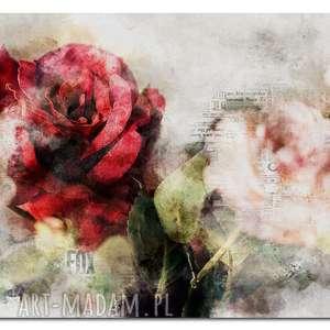 Obraz xxl róża 4 -120x70cm na płótnie aleobrazy obraz, róża,