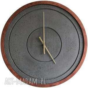 duży zegar betonowy drewniany szary handmade designerski oryginalny nowoczesny