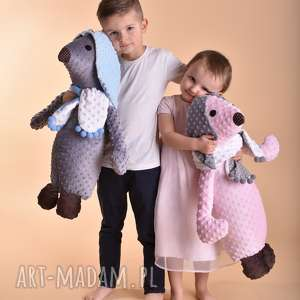 maskotki przytulanka dziecięca pies w szaliku, przytulanka-pies, pomysł-na-prezent