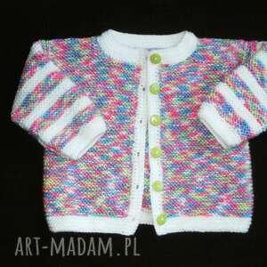 Sweterek Tęczowy , sweterek, rękodzieło, niemowlę, cieplutki, włóczka