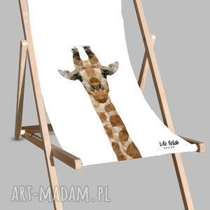 Leżak plażowy z żyrafą, leżak, dom, ogród, żyrafa, leżakplażowy, leżaki