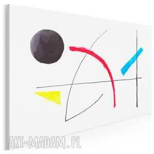 obraz na płótnie - miró abstrakcja minimalistyczny 120x80 cm (704001)