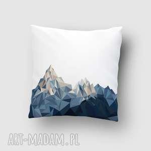 poduszka z górami, poduszka, góry, grafika, poszewka, lowpoly, wnętrze poduszki dom