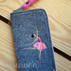 hand-made etui filcowe na telefon - baletnica