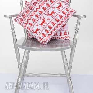 Prezent Śliczna, miękka dzianinowa poduszka w renifery 40x40 , poduszka, sweter
