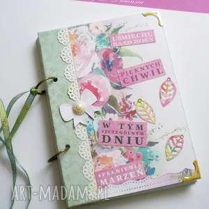 stylowy notes / w tym szczególnym dniu, zeszyt, pamiętnik, życzenia, urodziny, kwiaty