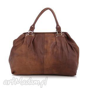 torba damska, kuferek paris 10-09 brown, kuferek, do ręki, codzienny, pracy