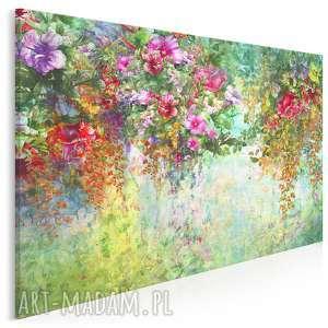 obraz na płótnie - ogród kwiaty natura 120x80 cm 78701, ogród