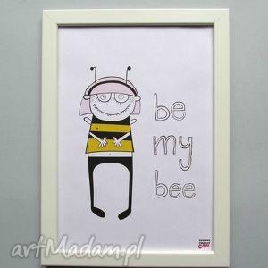 BE MY BEE , pszczółka, obrazek, plakat, dziecko, bee, grafika