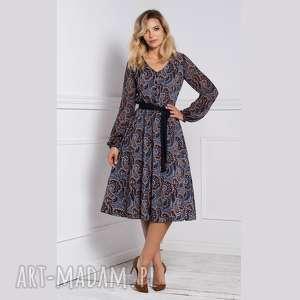 sukienka amber midi andrea, midi, na jesień, jesienna