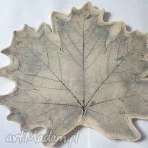 patera liść, ceramiczna, talerz, prezent dom
