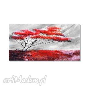 obrazy samotne drzewo, nowoczesny obraz ręcznie malowany, pejzaż