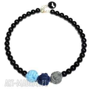 q-lki no 2 - naszyjnik, korale, modny, nowoczesny, kulki, perły