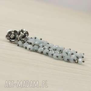 Akwamaryn i srebro - kolczyki grona, akwamaryn, srebro, kolczyki, kolczyki-grona
