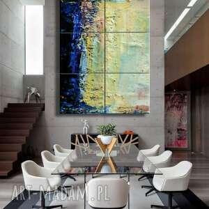 Blue abstract - obraz na płótnie art and texture ogromny obraz