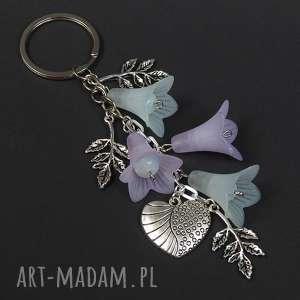 brelok do kluczy, torebki kamień opal kwiaty /0040, brelok, zawieszka, kwiaty