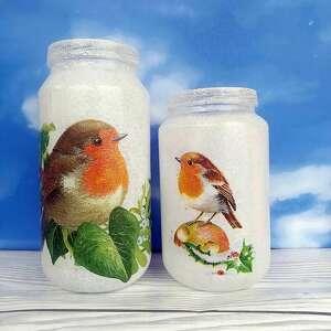 ptaki rudzik dekoracyjne słoiczki z kolekcji vöge im winter - święta bożego