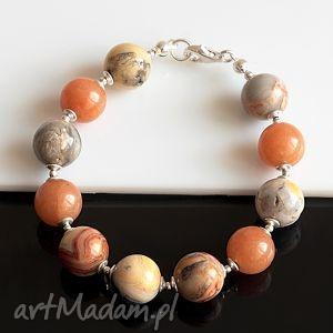 handmade agat koronkowy