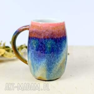 kubek duży kamionkowy - kolorowy sorbet 400 ml, ceramika na prezent