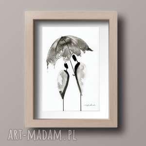 obrazek A4 malowany ręcznie, minimalizm, abstrakcja, malarstwo-abstrakcyj