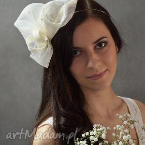 lilia ecru, lilia, opaska ozdoby do włosów