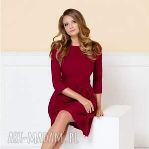 sukienka monica ii rubinowa - sukienka-do-pracy, czerwona-sukienka, bordowa-sukienka