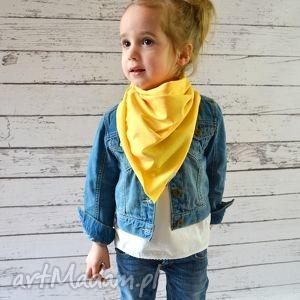 chusteczka apaszka dla dzieci bawełniana żółta, bawełna, dzianina, wiosna, eko