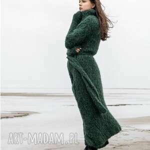 płaszcz sweter perth, płaszcz, sweter, puszysty, miękki, dziergany, ręcznie