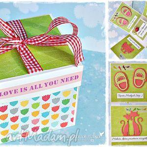 handmade scrapbooking kartki radosne życzenia ślubne - box z personalizacją