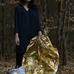 Koszula Granatowa / Lunga V Striature, koszula, sukienka, wiosna, lato, przewiewna