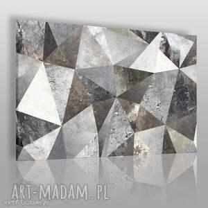 obraz na płótnie - beton trójkąty loft 120x80 cm 70901, trójkąty, beton