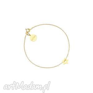 złota bransoletka z małą gwiazdką - łańcuszkowa