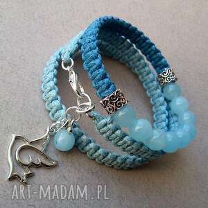 blue set, bransoletka, pleciona, makrama, sznurek, zapleciona, sznurkowa