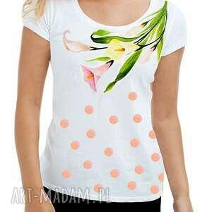 unikatowa bluzka na prezent ręcznie malowana lilia, bluzka, koszulka