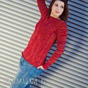 dzianinowa bluzka 255, dzianinowy sweter, bawełniana bluzka, damska