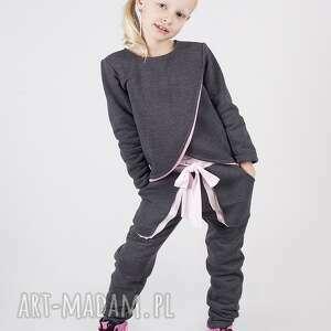 Spodnie DSP01G, modn, grafitowe, stylowe, wygodne, dziewczęce