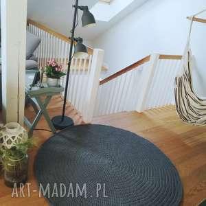 sploty love dywan okragly 150cm na szydełku ze sznurka bewełnianego