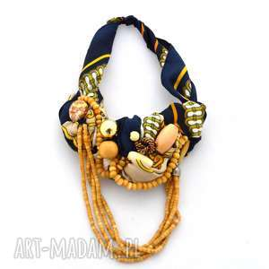 Midnight blue naszyjnik handmade naszyjniki oheve handmadedesign