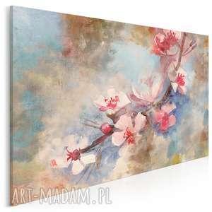 obraz na płótnie - kwiat wiśnia delikatny 120x80 cm 50801, kwiat