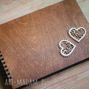 Album na zdjęcia do samodzielnego wyklejania, drewno, księga, wpisy, album, eko
