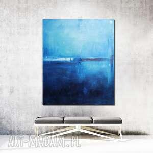 Obraz olejny - błękit paryski viii maja gajewska olejny