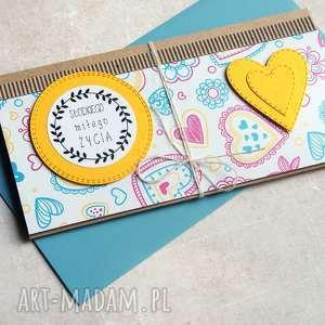 kartka - kopertówka :: słodkiego miłego życia, urodziny, ślub,