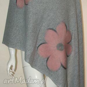 handmade szaliki szal wełna zdobiony