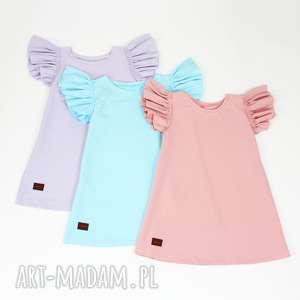 Sukienka z dresowej bawelny 35 kolorow, dresowa, letnia, falbanki