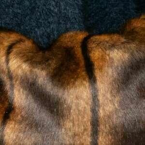hand made rękawiczki mankiety z futra brązowe