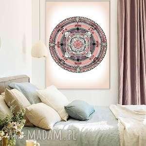oryginalne prezenty, malgorzata domanska mandala a3, plakat, mandala, róż, pastele